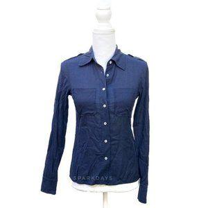 Tory Burch Navy Button Up Shirt | XS